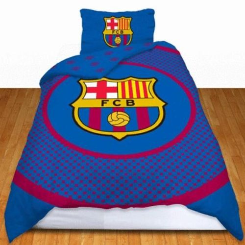 BARCELONA FOOTBALL CLUB  SINGLE SIZE DUVET COVER BEDDING SET